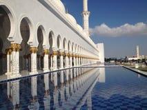El jeque Zayed Grand Mosque fotografía de archivo