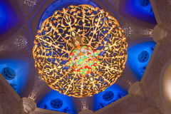 El jeque zayed la mezquita en Abu Dhabi, UAE - interior imagenes de archivo