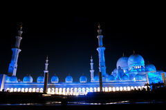 El jeque zayed la mezquita en Abu Dhabi, UAE, Oriente Medio fotos de archivo
