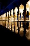 El jeque zayed la mezquita en Abu Dhabi, UAE, Oriente Medio Foto de archivo libre de regalías
