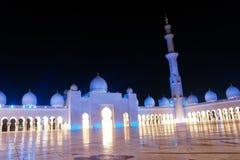 El jeque zayed la mezquita en Abu Dhabi, UAE, Oriente Medio imagenes de archivo