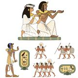 El jeroglífico egipcio y la cultura symbolAncient cantan y símbolo ilustración del vector