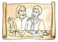 El Jesucristo encuentra a matthew ilustración del vector