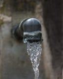 El jet del agua potable de la grúa de la primavera fotos de archivo libres de regalías