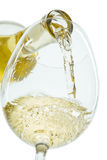 El jet del vino blanco imagen de archivo