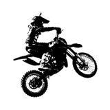 El jinete participa campeonato del motocrós Vector Foto de archivo