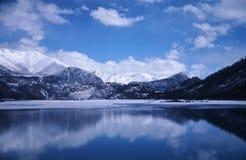 El jokul y el lago fotografía de archivo