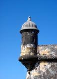 el juan som ut ser det Puerto Rico san för morro tornet Royaltyfri Bild