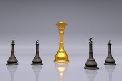 El juego de ajedrez de la moneda Imagen de archivo libre de regalías