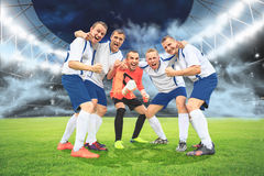 El juego de fútbol Foto de archivo