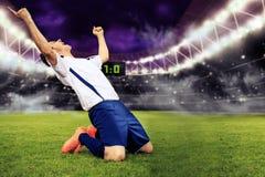 El juego de fútbol Imagen de archivo