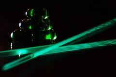 El juego de la luz en la pirámide de cristal Imagen de archivo libre de regalías