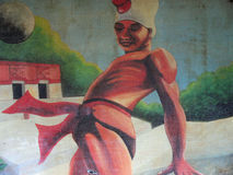 EL juego de la pela da pintura mural Imagem de Stock Royalty Free