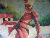 EL juego de la pelota de peinture murale Image libre de droits