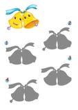 El juego de las sombras, campanas Foto de archivo libre de regalías