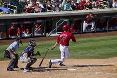 Juego del entreno primaveral de la liga del cactus de MLB Imágenes de archivo libres de regalías