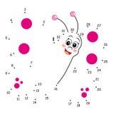El juego de los puntos, mariposa Imágenes de archivo libres de regalías