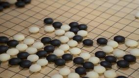 El juego de mesa chino va o Weiqi Imágenes de archivo libres de regalías