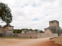 El Juego de Pelota. Chichen Itza, México. Exterior of the buildings that form El Juego de Pelota. Chichén Itzá. Yucatán. (México Stock Photography