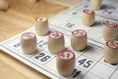 El juego del bingo Foto de archivo libre de regalías