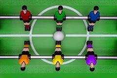 El juego del fútbol de la tabla fotografía de archivo libre de regalías