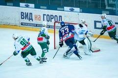 El juego del hockey Fotografía de archivo libre de regalías