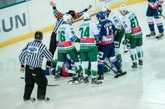 El juego del hockey Imagenes de archivo