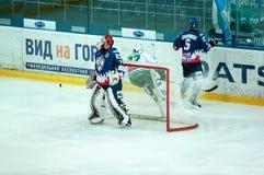 El juego del hockey Foto de archivo libre de regalías