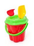 el juego fijó con el cubo, la pala y el rastrillo Imagen de archivo libre de regalías