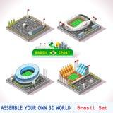 El juego fijó la construcción 09 isométrica Imagen de archivo