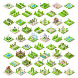 El juego fijó la construcción 13 isométrica libre illustration