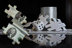 El juego financiero del rompecabezas imagen de archivo