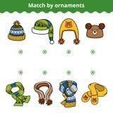El juego a juego para los niños, hace juego las bufandas y los sombreros stock de ilustración