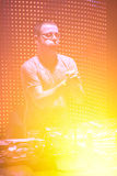 El JUEZ JULES de DJ se realiza en la onda urbana fistival el 16 de abril de 2011 en Minsk, Bielorrusia Imagen de archivo libre de regalías