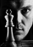 El jugador de ajedrez Foto de archivo libre de regalías
