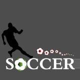 El jugador de fútbol Foto de archivo libre de regalías