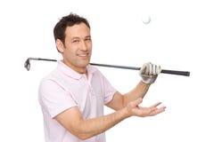 El jugador de golf fotografía de archivo