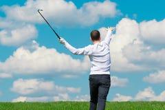 El jugador de golf ganó el juego Fotos de archivo libres de regalías