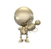 El jugador de oro muestra la taza del balompié del oro stock de ilustración