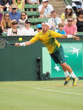 El jugador de tenis australiano Llayton Hewitt durante Davis Cup dobla a Brian Brothers de los E.E.U.U. Fotos de archivo