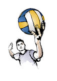 El jugador de voleibol Fotografía de archivo