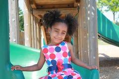 El jugar africano de la muchacha de Ameican Imagen de archivo