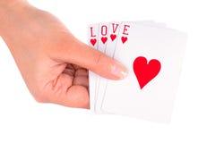 El jugar con amor Foto de archivo