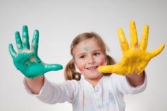 El jugar con colores Fotos de archivo libres de regalías