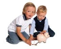 El jugar con el dinero Fotografía de archivo libre de regalías