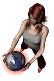 El jugar con el mundo 05 stock de ilustración