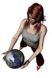 El jugar con el mundo 06 Fotos de archivo libres de regalías