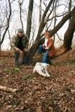 El jugar con el perro Fotografía de archivo libre de regalías