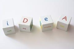 El jugar con ideas Imágenes de archivo libres de regalías