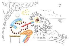 El jugar con las bacterias Fotos de archivo libres de regalías